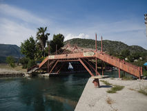 Bridge over river at Andriake Turkey Stock Images