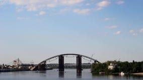 Bridge over river stock video