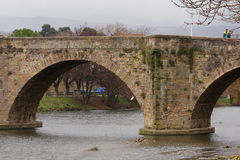 Bridge over the river Aude in Limoux  , France Royalty Free Stock Image
