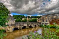 Bridge over the river Avon. The history of this bridge spans seven centuries. The broad ford across the river, which gave Bradford-upon-Avon its name, served as Stock Photo