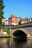 Bridge over River Avon, Evesham. Royalty Free Stock Photo