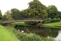 Bridge over River Avon, Warwick Castle garden, England Stock Images