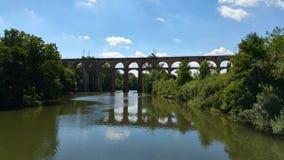 Bridge over a river Royalty Free Stock Photos