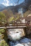 Bridge over the river in Bulnes Royalty Free Stock Photo