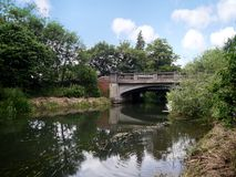 Bridge over the river Bure, Norfolk Broads. Over Norwich road, Coltishall area Stock Photos
