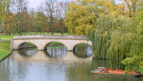 Bridge over the river Cam Royalty Free Stock Image