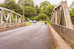 Bridge over river Cano in Costa Rica Royalty Free Stock Photography