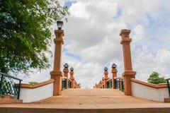 Bridge over river city in Nakhon Si Thammarat. Royalty Free Stock Image