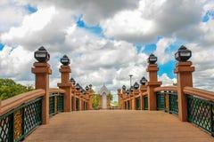 Bridge over river city in Nakhon Si Thammarat. Royalty Free Stock Photos