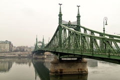 The bridge over the river Danube February 2014 Stock Images