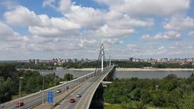 Bridge over the river Danube, panorama, Novi Sad, Serbia. European capital of culture an place od EXIT music festival stock images