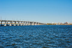 Bridge over the river Royalty Free Stock Photo