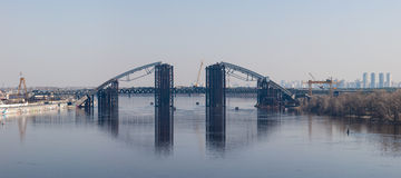 Bridge over the river Dnieper Royalty Free Stock Image