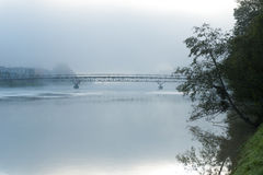 Bridge over the river Drava Stock Photography