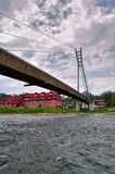 Bridge over the River Dunajec. Border of Slovakia and Poland Royalty Free Stock Photos