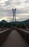 Bridge over river Dunajec. In mountains Pieniny Stock Photo