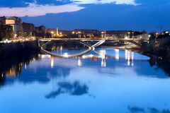 Bridge over the river Ebro Royalty Free Stock Photos