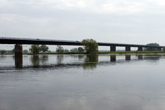 Bridge over the River Elbe Stock Images