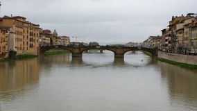 Bridge over river in florence royalty free stock photography