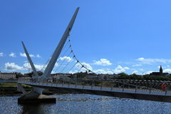 Bridge over the River Foyle from Derry Royalty Free Stock Images