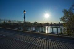 The bridge over the river Gardon in France. Royalty Free Stock Image
