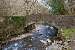 Bridge over River Heddon Exmoor Devon England Stock Photos