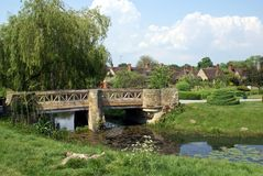 Bridge over a river, Hever castle garden, Kent, England Stock Images