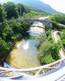 Bridge over the River in Italy. Stone bridge over the River in Italy Stock Image
