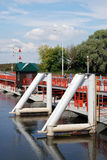 Bridge over the river in Kolomna, Russia. Stock Photos