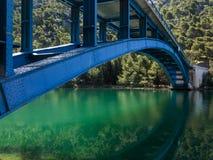 Bridge over the river Krka in Krka National Park in Croatia Royalty Free Stock Photos