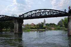 Bridge over the river Kwai Royalty Free Stock Photography