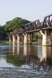 Bridge Over The River Kwai. Thailand, Kanchanaburi, bridge over the River Kwai Stock Photo