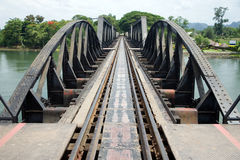 Bridge over the river Kwai. Photo of a famous bridge over the river Kwai, Thailand Stock Photos
