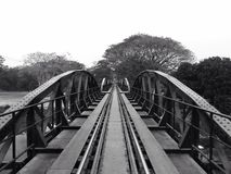 Bridge over the river Kwai. Amazing black and white pic about bridge over the river kwai in Stock Images