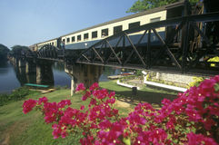 Bridge over River Kwai, Kanchanaburi, Erawan National Park, Thailand Stock Photos