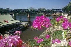 Bridge over River Kwai, Kanchanaburi, Erawan National Park, Thailand Royalty Free Stock Image
