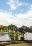 Bridge over the River Kwai in Kanchanaburi province, Thailand Stock Image
