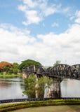 Bridge over the River Kwai in Kanchanaburi province, Thailand. It is part of Death Railway between Thailand and Burma Stock Image