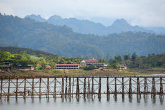 Bridge over the river Kwai in Kanchanaburi. Thailand Stock Image