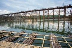 Bridge over the river Kwai in Kanchanaburi Royalty Free Stock Photos
