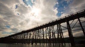 Bridge over the river Kwai in Kanchanaburi Stock Photography