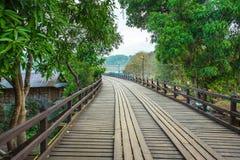 Bridge over the river Kwai in Kanchanaburi. Thailand Royalty Free Stock Image