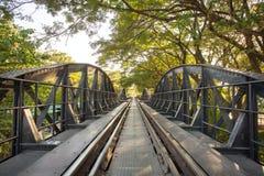 Bridge over the river Kwai in Kanchanaburi Stock Image