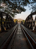 Bridge over the river Kwai, Kanchanaburi, Thailand Royalty Free Stock Images