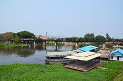 The Bridge Over the River Kwai. In Kanchanaburi, Thailand Stock Photography