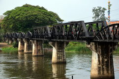 The Bridge Over the River Kwai. In Kanchanaburi, Thailand Royalty Free Stock Photos