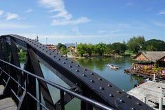 Bridge over the River Kwai at Kanchanaburi , Thailand. 12 January 2017 : Bridge over the River Kwai at Kanchanaburi , Thailand Royalty Free Stock Photography