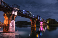Bridge over River Kwai. Royalty Free Stock Images