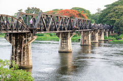 Bridge over the River Kwai. Old bridge over the River Kwai Yai is a historical attractions during World War 2 the famous of Kanchanaburi Province in Thailand Stock Photography