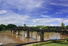 The bridge over the river Kwai. Thailand Royalty Free Stock Images